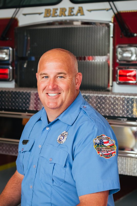 Firefighter Robbie Johnson