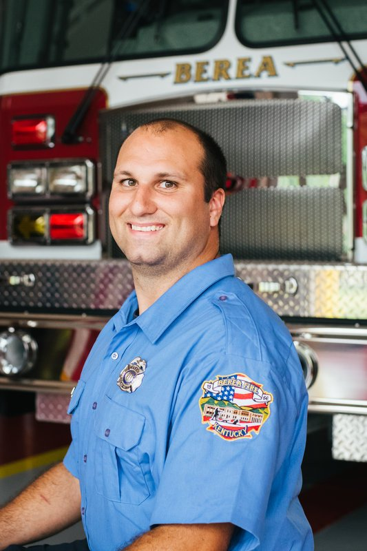 Firefighter Adam Coomes